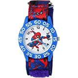 MARVEL Boys Spider-Man Analog-Quartz Watch with Nylon Strap, Blue, 16 (Model: WMA000189)