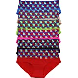 ToBeInStyle Women's Pack of 6 No Show Laser Cut Brief Panties