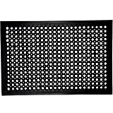 "Irongate Prep Set of 2 Anti-Fatigue Heavy Duty Kitchen Drainage Ramp Solid Rubber Mats, 24"" X 36"", Black"