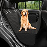 Dog Back Seat Cover Protector Waterproof Scratchproof Nonslip Hammock for Dogs Backseat Protection Against Dirt and Pet Fur D