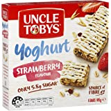 UNCLE TOBYS Muesli Bars Yogurt Topps Strawberry 6 Pack, 185g