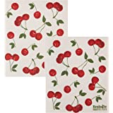 Now Designs Swedish Dishcloth (Set of 2), Cherries 2 Count