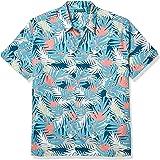 Cubavera Men's Flamingo Leaf Print Shirt