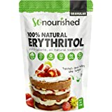 So Nourished Erythritol Sweetener Granular (454 g / 1 lb) - No Calorie Sweetener, Non-GMO, Natural Sugar Substitute (454 Gram