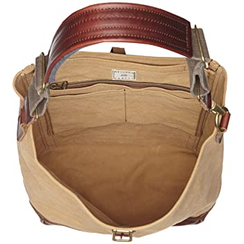 Aging Canvas One Strap Carry All: Tan