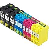 (12 色セット) InkHero Epson IC4CL6165 ICBK61, ICC65, ICM65, ICY6…