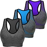 Cabales KINYAOYAO Women's Plus Size Ultimate Comfy Medium Support Sport Bra 3 Pack