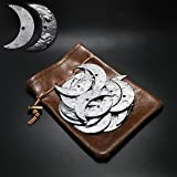20 Fantasy Coins for DND Board Games Accessories & Leather Pouch of Waterdeep Metal Coins of Dungeons & Dragons Tablelap RPG
