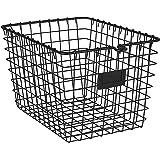 Spectrum Diversified Wire Pet, Toy, Office, Dorm Storage Basket Bin Organizer, Small, Black