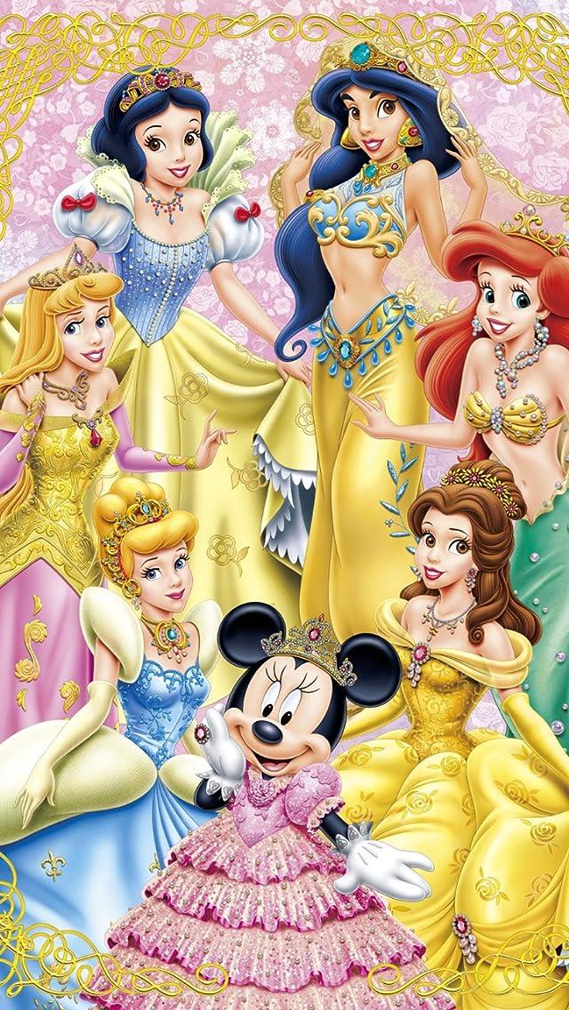 ディズニー 白雪姫,シンデレラ,ジャスミン,アリエル,ミニー姫,ベル,オーロラ姫 iPhoneSE/5s/5c/5(640×1136)壁紙 画像42148 スマポ