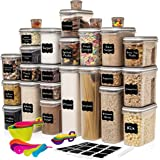 Largest Set of 52 Pc Food Storage Containers (26 Container Set) Shazo Airtight Dry Food Space Saver w Interchangeable Lid, 14