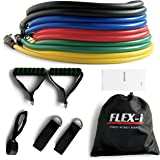 FLEX-i® Resistance Bands Set – Stackable Resistance Tubes – Exercise Resistance Bands with Handles, Ankle Straps, Door Anchor