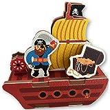 Pirate Bath Toys - 10 Piece Foam Set With Storage Bag/Organizer/Holder - Educational Toy For Kids - Bathtub Fun