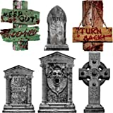 Yard Signs for Halloween Beware Signs Yard Stakes Warning Yard Sign Stakes for Halloween Decorations Outdoor Lawn Decorations