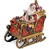 Regal Holiday Collection, Santa in Sleigh Musical Figurine