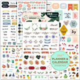 Oriday, Planner Stickers 6 Sheets, Set of 391 Stickers for Daily Life Productivity for Monthly, Weekly, Daily Planner and Cal