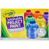 Crayola, Washable Metallic Paint, 6 x 59ml, Art Supplies, Children Art & Craft, Projects, Artist, Students, Creativity