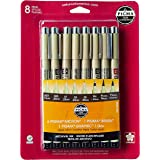 Sakura Pigma Micron Blister Card Ink Pen Set, Sepia, All Sepia 8CT