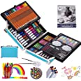 KINSPORY 137 PCS Portable Inspiration & Creativity Coloring Art Set Deluxe Painting & Drawing Supplies with Aluminum Alloy Bo