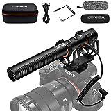ビデオカメラ外付けマイクCOMICA CVM-VM20ショットガンマイク コンデンサーマイク カメラ/スマートフォンマイク 単一指向性マイク多機能 充電式マイクCanon Nikon Sony DSLRカメラなど用