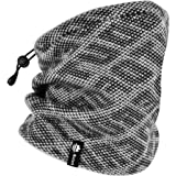 Botack 3 in 1 Fleece Ski Neck Warmer, Slouchy Beanie Hat Balaclava Neck Gaiter for Cold Weather Winter Skiing Running Camping