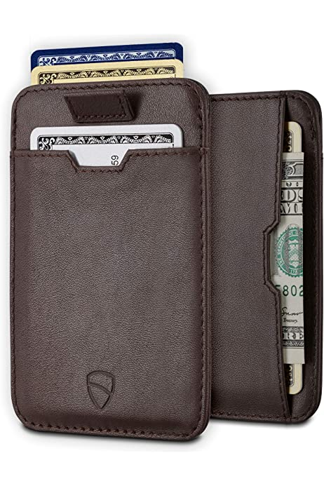 Compact EX 101 Premium Leather with Stainless Steel Locking Clip Caiman Black Stylish Sophisticated Exentri Trifold Wallet