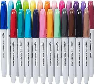 Amazonベーシック 油性マーカーペン 24色セット