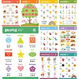 Learn Chinese for Kids Poster Set. Bilingual with Chinese-English. For Kids, Toddlers, and Preschoolers. Learning Videos Incl