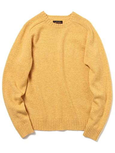 5 Gauge Wool Crewneck Sweater 11-15-0683-103: Mustard