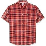 Cinch Mens Classic Fit Short Sleeve Button One Open Pocket Plaid Shirt Short Sleeve Button-Down Shirt