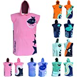 """Kids' Towel and Robe – Bath Towels for Boys & Girls 4'-5'6"""" (Pink)"""