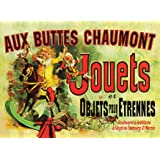 PalaceLearning Jouets Poster (as seen in Monica's Apartment on Friends) - Aux Buttes Chaumont Jouets by Jules Cheret 1885 - V