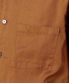 Garment Dyed Camp Shirt 1216-149-2072: Brown