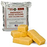 Emergency Food Rations - 3600 Calorie Bar - 3 Day Supply - Less Sugar and More Nutrients Than Other Leading Brands - (5 Year