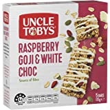 UNCLE TOBYS Uncle Tobys Raspberry Goji & White Choc, 5 Count, Raspberry Goji & White Choc