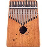 Kalimba 17 Keys Thumb Finger Piano - Mbira - Solid Mahogany and Portable with Carrying Bag and Instructions