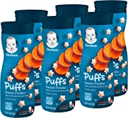 Gerber Graduates Puffs Cereal Snack, Sweet Potato, Naturally Flavored with Other Natural Flavors, 1.48 Ounce, 6 Count