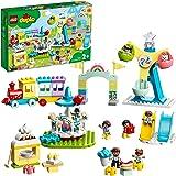 LEGO 10956 DUPLO Amusement Park Fairground with Train, Carousel & Ferris Wheel, Building Toy 2+ Years Old