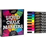 Liquid Chalk Marker Set - 8 Vibrant colors, erasable, non-toxic, water-based, reversible tips, bright colors for kids & adult