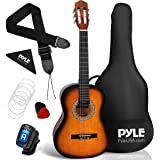 "Beginner 36"" Classical Acoustic Guitar - 3/4 Junior Size 6 String Linden Wood Guitar w/Gig Bag, Tuner, Nylon Strings, Picks,"