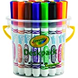 Crayola 32 Classic Ultra-Clean Washable Markers, Deskpack, 8 Colours, Perfect for Students, Classroom, Share, Create and Lear