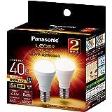パナソニック LED電球 プレミア 口金直径17mm 電球40W形相当 電球色相当(4.4W) 小形電球・全方向タイプ 2個入り 密閉器具対応 LDA4LGE17Z40ESW22T