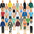 SOTOGO 42 Pieces Doll Clothes and Accessories for Ken Dolls Include 19 Set Doll Casual/Career Wear Clothes Jacket Pants Outfi
