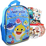 """Baby Shark 11"""" Mini School Backpack for Kids ~ 3 Pc Bundle With Small Baby Shark School Bag And Toy Story And Finding Dory St"""