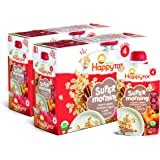 Happy Tot Organic Stage 4 Super Morning Apple Cinnamon Yogurt Oats + Super Chia, 4 Ounce, Pack of 8 (Packaging May Vary)