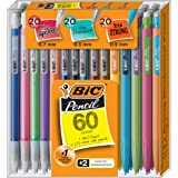 BIC Mechanical Pencil Variety Pack, Assorted Size, 0.5mm, 0.7mm, 0.9mm, 60-Count
