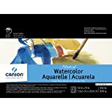 Canson Montval Watercolor Block, Cold Press Acid Free French Paper, 140 Pound, 6 x 9 Inch, 15 Sheets
