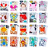 Make Your Own Stickers for Kids-Make a Face - 100 Pack Assortment 20 Animals.Zoo Animals, Sea Creature, Dinosaur and More , A