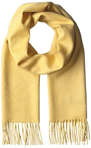 Plus Solid Cashmere Scarf 11-45-0373-869: Yellow