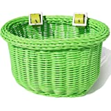 Colorbasket Kid's Front Handlebar Bike Basket,Green, 10 x 7 x 6.75